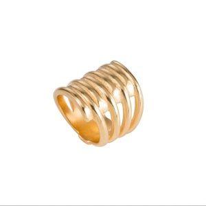 Uno de 50 Gold Tornado Ring XL ANI0302